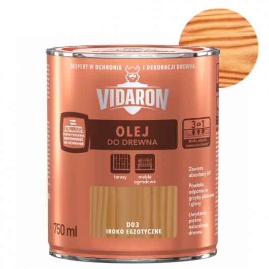 Масло для древесины Vidaron Olej do drewna D02 тик натуральный - интернет-магазин tricolor.com.ua