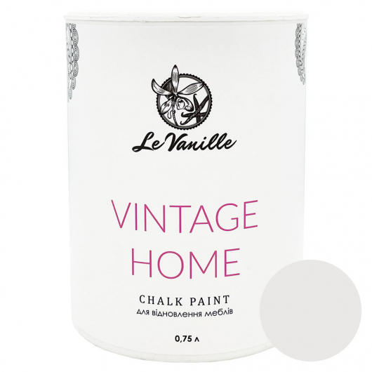 Меловая краска Le Vanille Vintage Home Белая 00 - интернет-магазин tricolor.com.ua