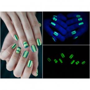 Светящийся люминесцентный лак для ногтей AcmeLight 16 мл зеленое свечение - изображение 4 - интернет-магазин tricolor.com.ua