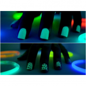 Светящийся люминесцентный лак для ногтей AcmeLight 16 мл зеленое свечение - изображение 6 - интернет-магазин tricolor.com.ua