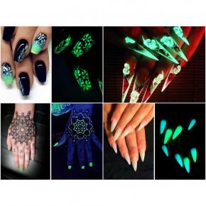 Светящийся люминесцентный лак для ногтей AcmeLight 16 мл зеленое свечение - изображение 7 - интернет-магазин tricolor.com.ua