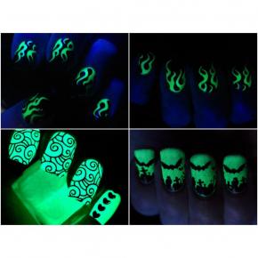Светящийся люминесцентный лак для ногтей AcmeLight 16 мл зеленое свечение - изображение 8 - интернет-магазин tricolor.com.ua