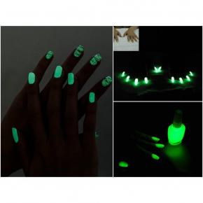 Светящийся люминесцентный лак для ногтей AcmeLight 16 мл зеленое свечение - изображение 5 - интернет-магазин tricolor.com.ua