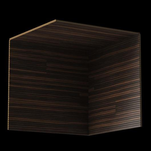 Акустическая панель Perfect-Acoustics Octa 1,5 мм без перфорации шпон Эбони Datuk 10.44 Datuk Ebony негорючая - изображение 3 - интернет-магазин tricolor.com.ua