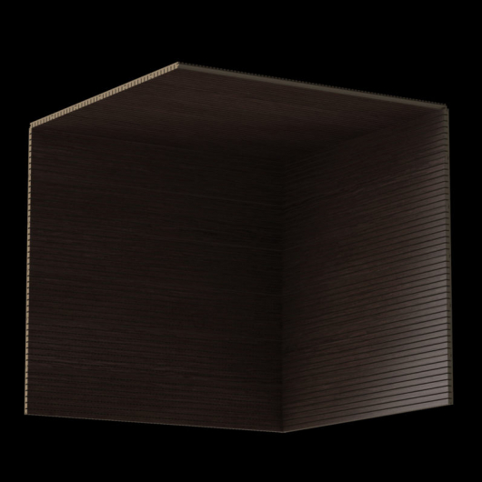 Акустическая панель Perfect-Acoustics Octa 1,5 мм без перфорации шпон Венге крупнорадиальный Dog 6 негорючая - изображение 3 - интернет-магазин tricolor.com.ua