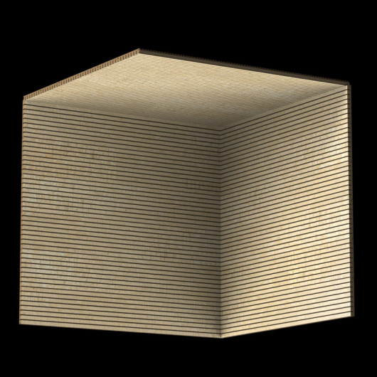 Акустическая панель Perfect-Acoustics Octa 1,5 мм без перфорации шпон Клен фризе 10.03 Erable Frise негорючая - изображение 3 - интернет-магазин tricolor.com.ua