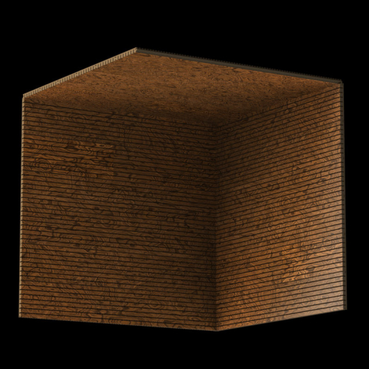 Акустическая панель Perfect-Acoustics Octa 1,5 мм без перфорации шпон Корень вяза 10.05 Elm Burl негорючая - изображение 3 - интернет-магазин tricolor.com.ua