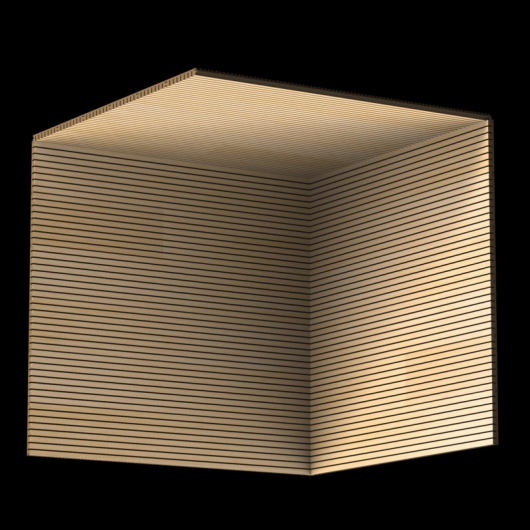 Акустическая панель Perfect-Acoustics Octa 1,5 мм без перфорации шпон Ясень радиальный SBT 2F 91X3 негорючая - изображение 3 - интернет-магазин tricolor.com.ua