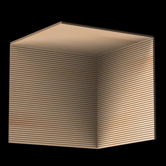 Акустическая панель Perfect-Acoustics Octa 1,5 мм без перфорации шпон Бук радиальный SBF 1A 758-00-V негорючая - изображение 3 - интернет-магазин tricolor.com.ua