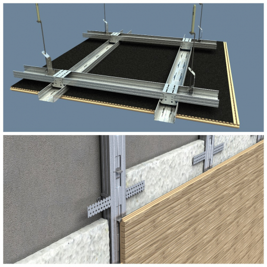 Акустическая панель Perfect-Acoustics Octa 1,5 мм с перфорацией шпон Венге белый 11.12 Light Grey Lati стандарт - изображение 5 - интернет-магазин tricolor.com.ua
