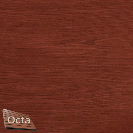 Акустическая панель Perfect-Acoustics Octa 1,5 мм с перфорацией шпон Красное дерево тангентальный стандарт - интернет-магазин tricolor.com.ua