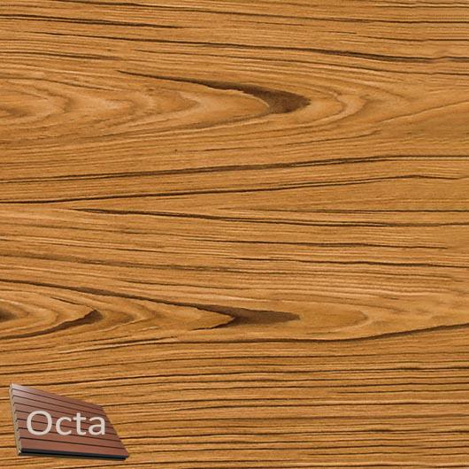 Акустическая панель Perfect-Acoustics Octa 1,5 мм с перфорацией шпон Тик тангентальный негорючая - интернет-магазин tricolor.com.ua
