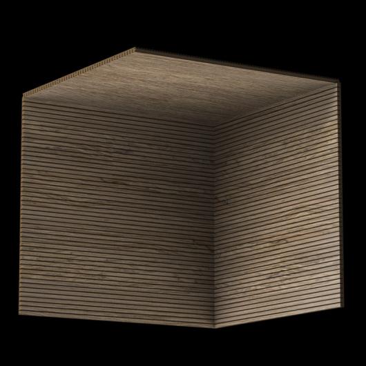 Акустическая панель Perfect-Acoustics Octa 1,5 мм с перфорацией шпон Орех Noble Walnut негорючая - изображение 3 - интернет-магазин tricolor.com.ua