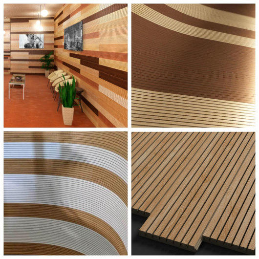 Акустическая панель Perfect-Acoustics Octa 1,5 мм с перфорацией шпон Орех 10.95 Planked Walnut негорючая - изображение 4 - интернет-магазин tricolor.com.ua