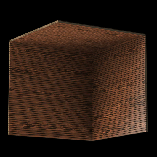 Акустическая панель Perfect-Acoustics Octa 1,5 мм с перфорацией шпон Палисандр Santos 10.24 тангентальный негорючая - изображение 3 - интернет-магазин tricolor.com.ua
