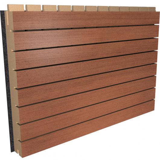 Акустическая панель Perfect-Acoustics Octa 1,5 мм с перфорацией шпон Меранти 2M-77 негорючая - интернет-магазин tricolor.com.ua