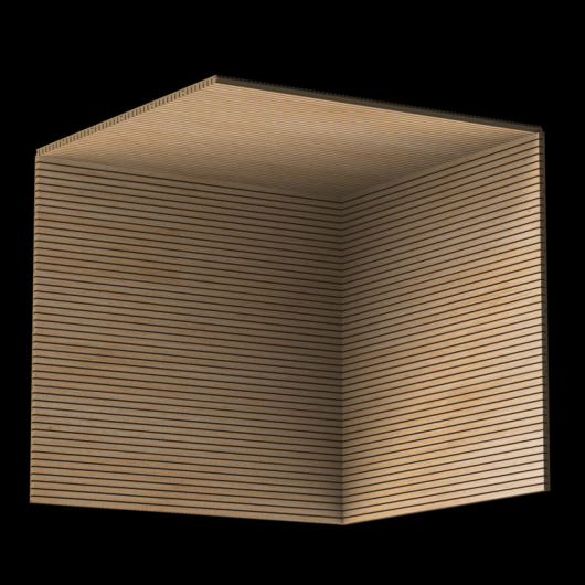 Акустическая панель Perfect-Acoustics Octa 3 мм без перфорации шпон Дуб радиальный 2R 377-XV стандарт - изображение 3 - интернет-магазин tricolor.com.ua