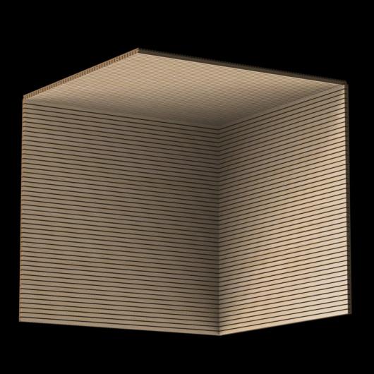 Акустическая панель Perfect-Acoustics Octa 3 мм без перфорации шпон Дуб 10.96 Planked Oak стандарт - изображение 3 - интернет-магазин tricolor.com.ua