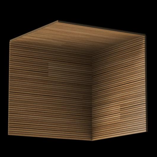 Акустическая панель Perfect-Acoustics Octa 3 мм без перфорации шпон Зебрано мелкорадиальный стандарт - изображение 3 - интернет-магазин tricolor.com.ua