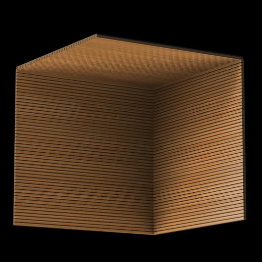 Акустическая панель Perfect-Acoustics Octa 3 мм без перфорации шпон Тик мелкорадиальный 2T 261V стандарт - изображение 3 - интернет-магазин tricolor.com.ua