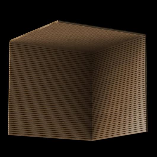Акустическая панель Perfect-Acoustics Octa 3 мм без перфорации шпон Орех 10.95 Planked Walnut стандарт - изображение 3 - интернет-магазин tricolor.com.ua
