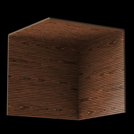 Акустическая панель Perfect-Acoustics Octa 3 мм без перфорации шпон Палисандр Santos 10.24 тангентальный стандарт - изображение 3 - интернет-магазин tricolor.com.ua