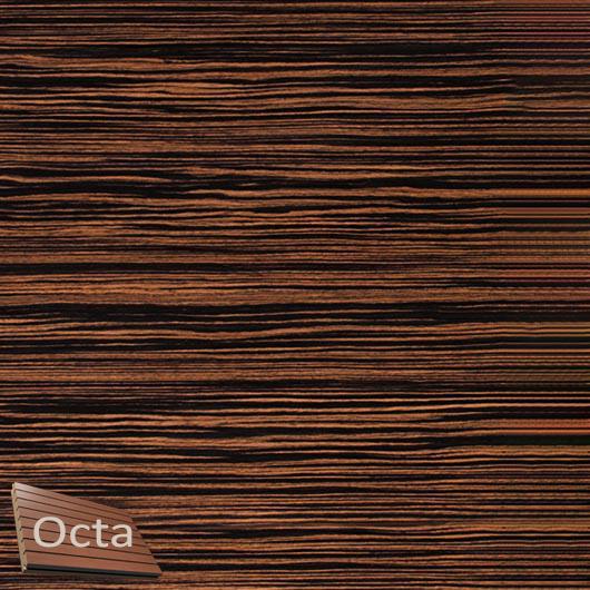 Акустическая панель Perfect-Acoustics Octa 3 мм без перфорации шпон Эбеновое дерево 375 Макассар 10.41 стандарт - интернет-магазин tricolor.com.ua
