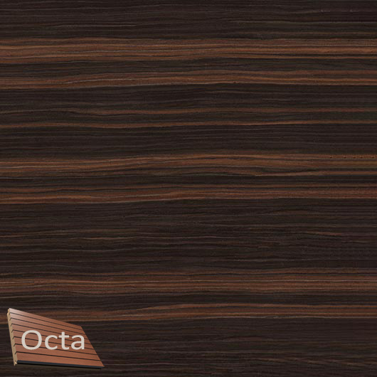 Акустическая панель Perfect-Acoustics Octa 3 мм без перфорации шпон Эбони Datuk 10.44 Datuk Ebony стандарт - интернет-магазин tricolor.com.ua
