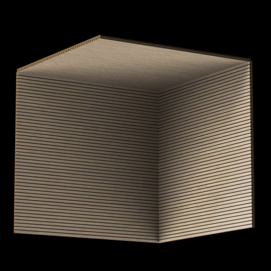 Акустическая панель Perfect-Acoustics Octa 3 мм без перфорации шпон Венге белый 11.12 Light Grey Lati стандарт - изображение 3 - интернет-магазин tricolor.com.ua