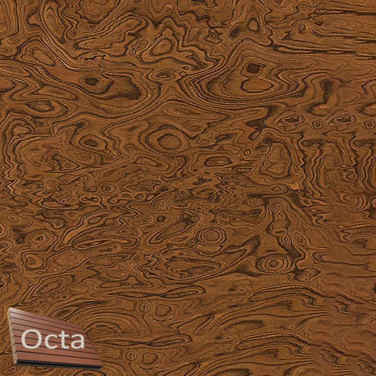 Акустическая панель Perfect-Acoustics Octa 3 мм без перфорации шпон Корень вяза 10.05 Elm Burl стандарт - интернет-магазин tricolor.com.ua