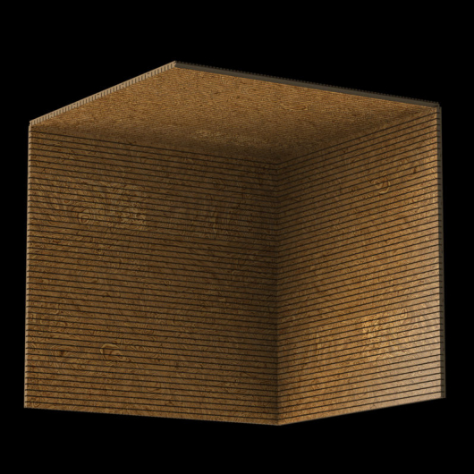 Акустическая панель Perfect-Acoustics Octa 3 мм без перфорации шпон Корень ореха 10.07 Walnut Burl стандарт - изображение 3 - интернет-магазин tricolor.com.ua