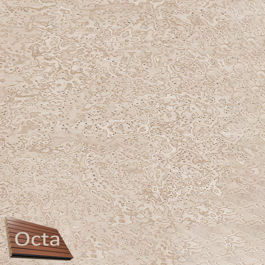 Акустическая панель Perfect-Acoustics Octa 3 мм без перфорации шпон Клен птичий глаз 11.07 Sand Erable стандарт - интернет-магазин tricolor.com.ua