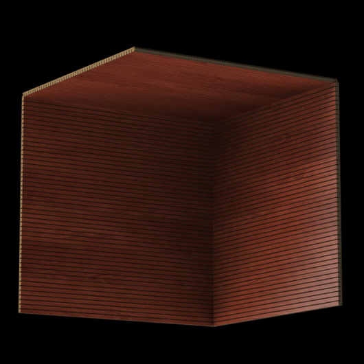 Акустическая панель Perfect-Acoustics Octa 3 мм без перфорации шпон Красное дерево тангентальный стандарт - изображение 3 - интернет-магазин tricolor.com.ua