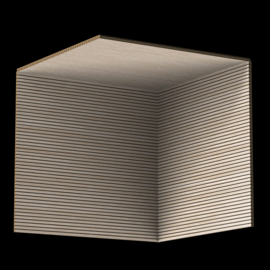 Акустическая панель Perfect-Acoustics Octa 3 мм без перфорации шпон Дуб беленый Grey 20.64 негорючая - изображение 3 - интернет-магазин tricolor.com.ua