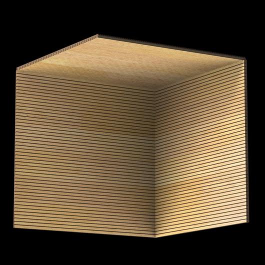 Акустическая панель Perfect-Acoustics Octa 3 мм без перфорации шпон Дуб 10.84 Slavony Oak негорючая - изображение 3 - интернет-магазин tricolor.com.ua