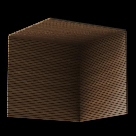 Акустическая панель Perfect-Acoustics Octa 3 мм без перфорации шпон Дуб 10.94 Moka Oak негорючая - изображение 3 - интернет-магазин tricolor.com.ua