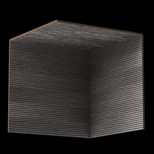 Акустическая панель Perfect-Acoustics Octa 3 мм без перфорации шпон Дуб 11.04 Dark Grey Oak негорючая - изображение 3 - интернет-магазин tricolor.com.ua