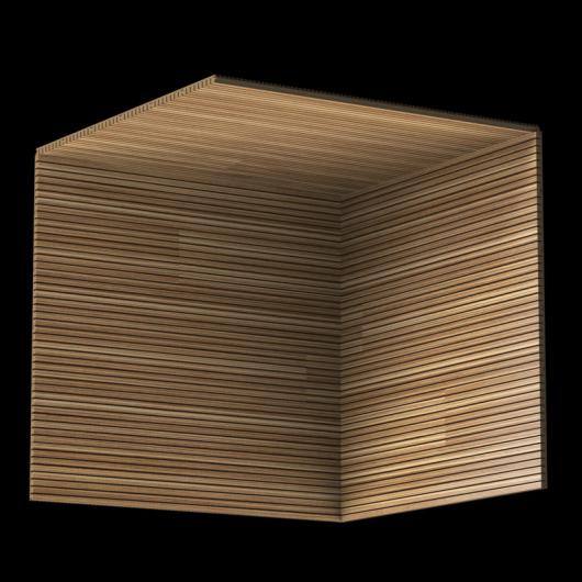 Акустическая панель Perfect-Acoustics Octa 3 мм без перфорации шпон Зебрано classic 20.71 негорючая - изображение 3 - интернет-магазин tricolor.com.ua