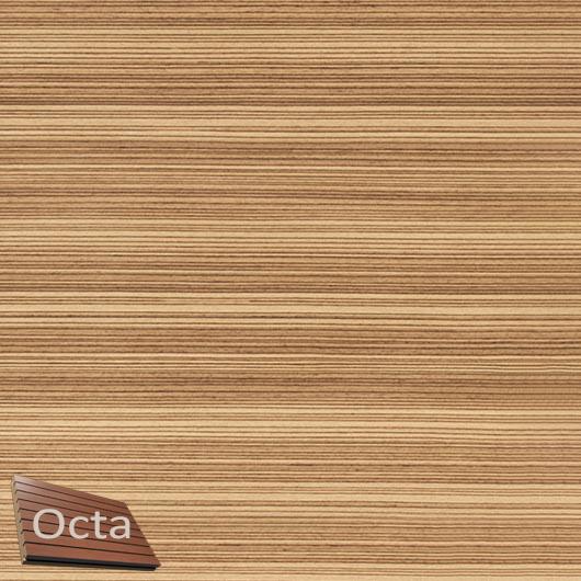 Акустическая панель Perfect-Acoustics Octa 3 мм без перфорации шпон Зебрано classic 20.71 негорючая - интернет-магазин tricolor.com.ua