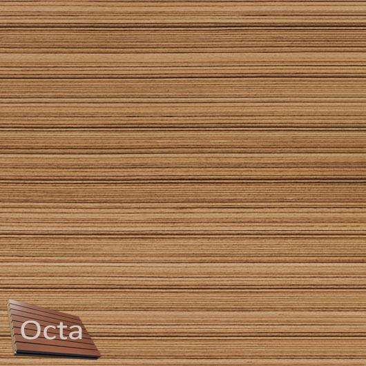 Акустическая панель Perfect-Acoustics Octa 3 мм без перфорации шпон Зебрано мелкорадиальный негорючая - интернет-магазин tricolor.com.ua