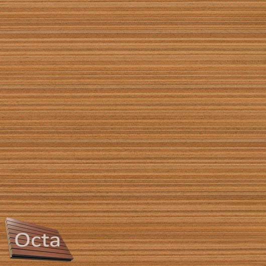 Акустическая панель Perfect-Acoustics Octa 3 мм без перфорации шпон Тик мелкорадиальный 2T 261V негорючая - интернет-магазин tricolor.com.ua