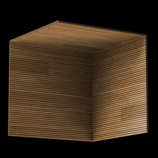 Акустическая панель Perfect-Acoustics Octa 3 мм без перфорации шпон Тик радиальный ST 2T 13000Y17 негорючая - изображение 3 - интернет-магазин tricolor.com.ua