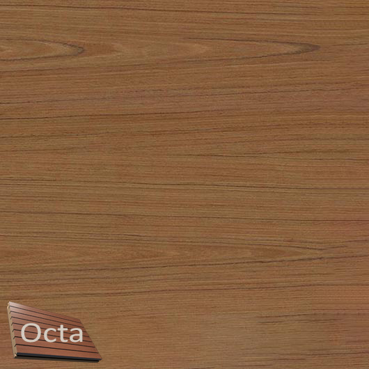 Акустическая панель Perfect-Acoustics Octa 3 мм без перфорации шпон Тик 10.73 негорючая - интернет-магазин tricolor.com.ua