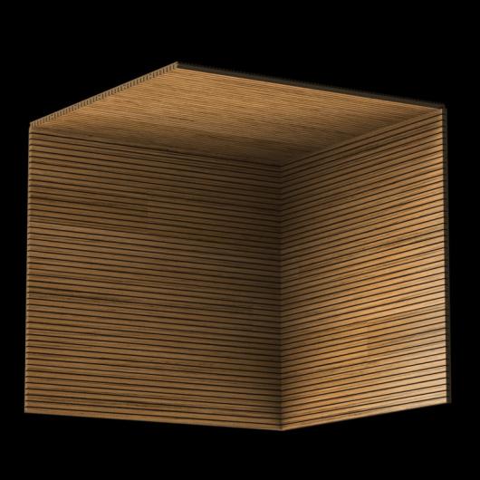 Акустическая панель Perfect-Acoustics Octa 3 мм без перфорации шпон Тик 10.74 негорючая - изображение 3 - интернет-магазин tricolor.com.ua