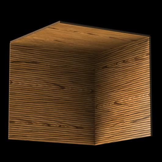 Акустическая панель Perfect-Acoustics Octa 3 мм без перфорации шпон Тик тангентальный негорючая - изображение 3 - интернет-магазин tricolor.com.ua