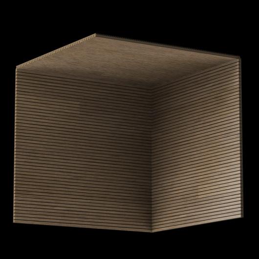 Акустическая панель Perfect-Acoustics Octa 3 мм без перфорации шпон Орех Европейский радиальный 10.16 негорючая - изображение 3 - интернет-магазин tricolor.com.ua