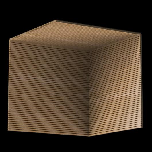 Акустическая панель Perfect-Acoustics Octa 3 мм без перфорации шпон Орех Европейский тангентальный TBF негорючая - изображение 3 - интернет-магазин tricolor.com.ua