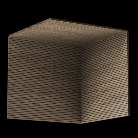 Акустическая панель Perfect-Acoustics Octa 3 мм без перфорации шпон Орех Noble Walnut негорючая - изображение 3 - интернет-магазин tricolor.com.ua