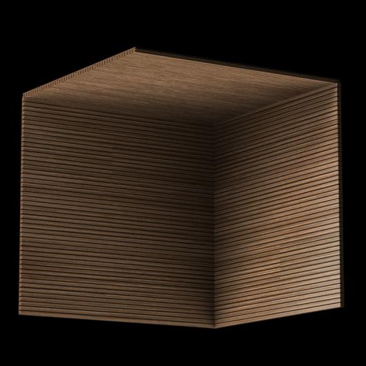 Акустическая панель Perfect-Acoustics Octa 3 мм без перфорации шпон Орех 10.18 Balanced American Walnut негорючая - изображение 3 - интернет-магазин tricolor.com.ua