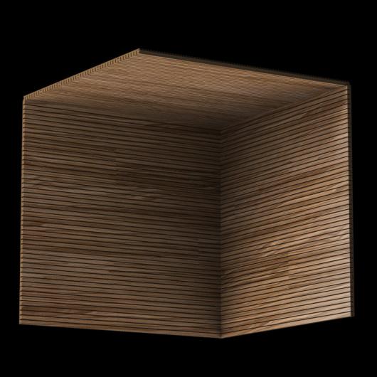 Акустическая панель Perfect-Acoustics Octa 3 мм без перфорации шпон Орех 10.19 Wavy American Walnut негорючая - изображение 3 - интернет-магазин tricolor.com.ua